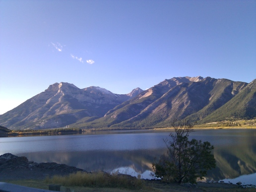 Banff roadside scenery