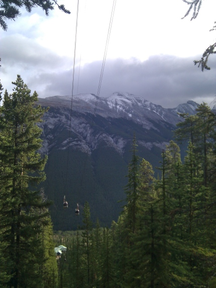 Half-way up Sulphur Mountain.
