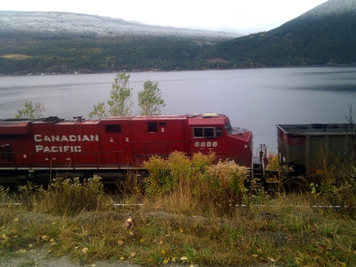 Canadian Pacific Train in British Columbia