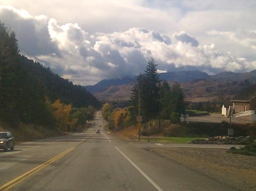 Cloudy autumn skies in British Columbia, Canada.