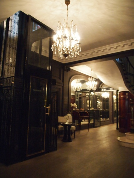 Interior of our Boutique Hotel in Paris